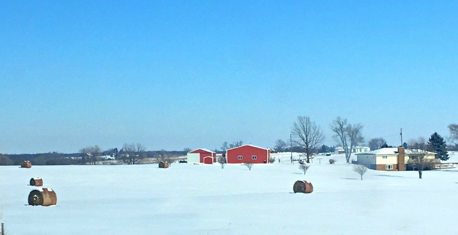 Winter in beautiful Iowa-peppermillbnb-countryside