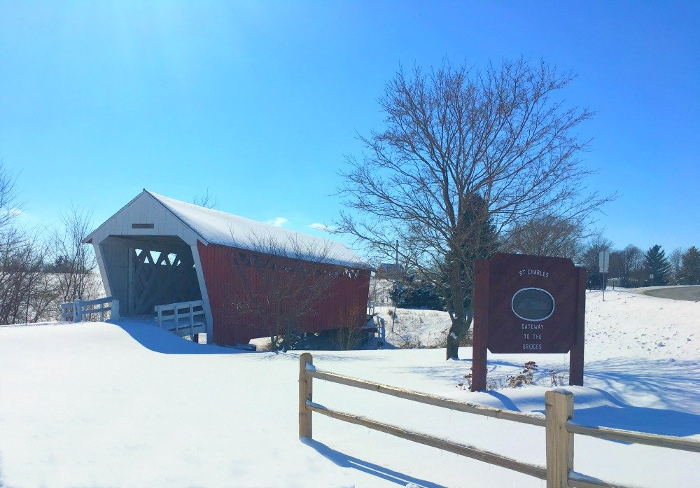 Winter in beautiful Iowa-peppermillbnb-bridges