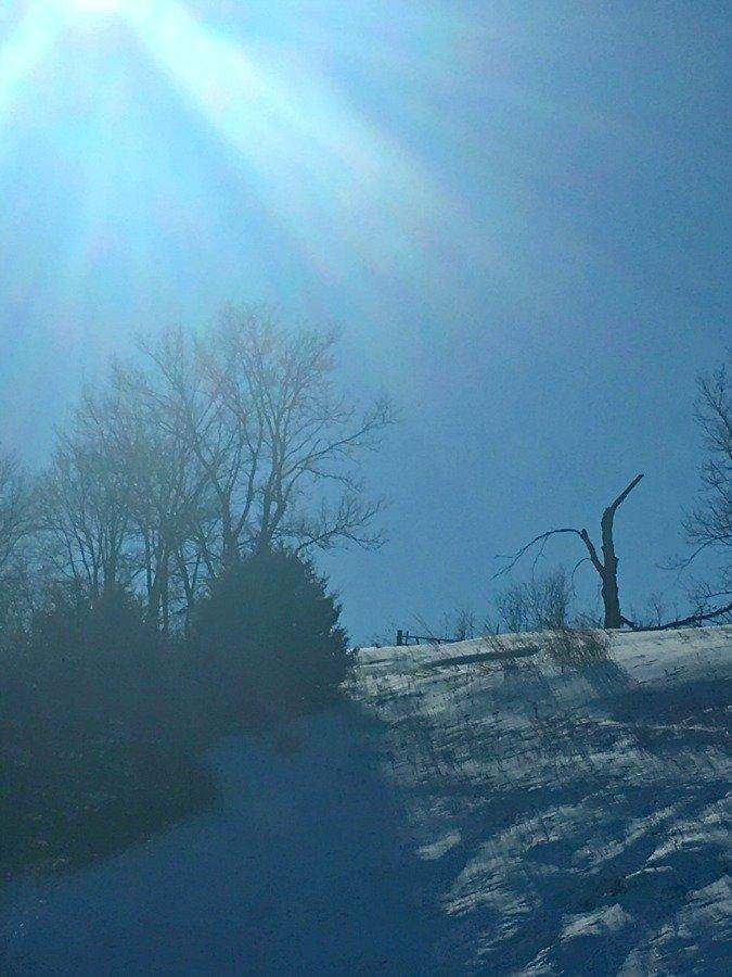 Winter in beautiful Iowa-peppermillbnb-sun