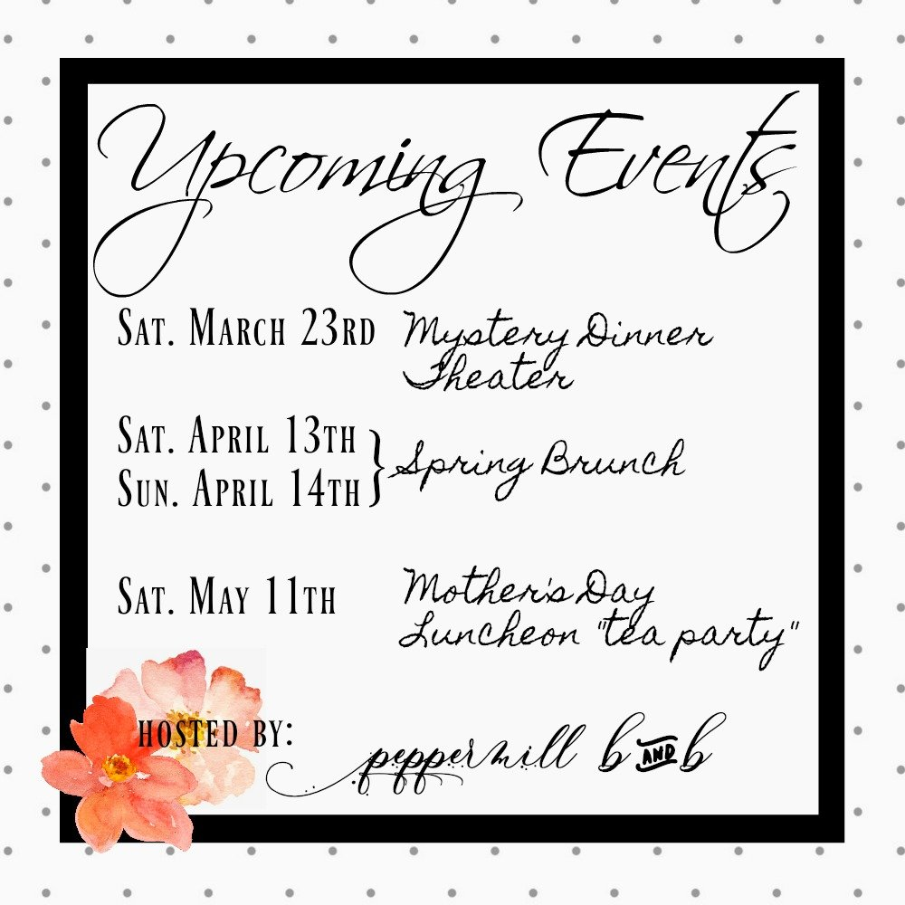 Spring Events 2019-peppermillbnb-upcoming