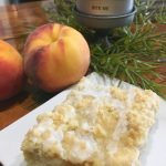 Amazing Glazed Peach Crumb Bars-peppermillbnb-bars